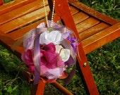 Purple Rain Flower Balls