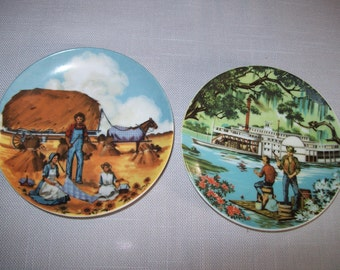 Collector Plates Avon American Portraits Midwest & South 1985