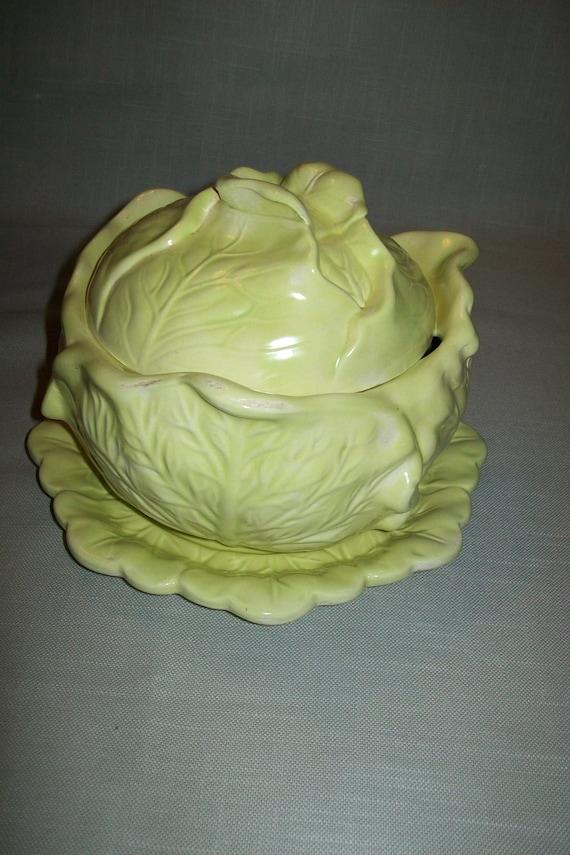 Holland Mold Cabbage Soup Gravy Bean Bowl 3 Piece Set 1960-1970