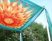 Hand Painted Silk Chuppah-Sunburst