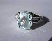 Reserved For cmfisher1 - Natural Aquamarine Ring - Size 9 - CobbledStone