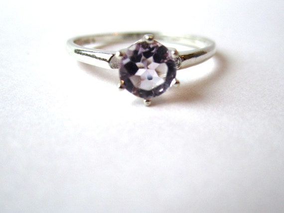 CLEARANCE - Sterling Silver and Amethyst Ring - Size 8