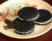 Cookies- set of 3 Crochet Cotton Play Food