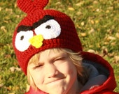 Angry Birds Inspired Red Cardinal Hat - You pick Size