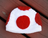 Super Mario Brothers Toad Mushroom Inspired Hat - You pick Size