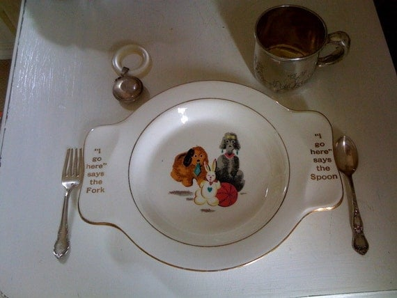 Vintage Baby Plate - Clearance