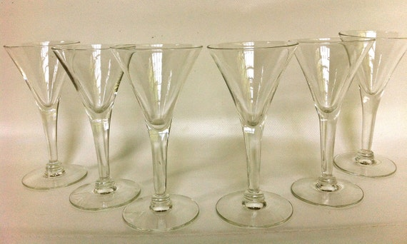 6 Cocktail Glasses - Six Small Scale