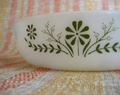 Baking Dish Casserole 1960s Vintage with Flowers