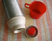 Metal Thermos Red Vintage