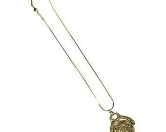 Vintage Goldette Floral Locket Pendant Necklace