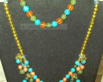 Gypsy style accessory set/ turquoise,green,yellow,orange