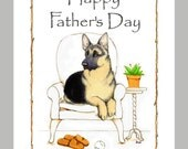 German Shepherd Dog Father's Day card