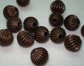Copper Metal Round Beads 13