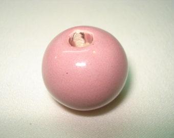 Ceramic Pink Bead 1