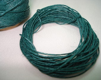 Blue Green Linen Cord 5 Yards and 15.60 ""