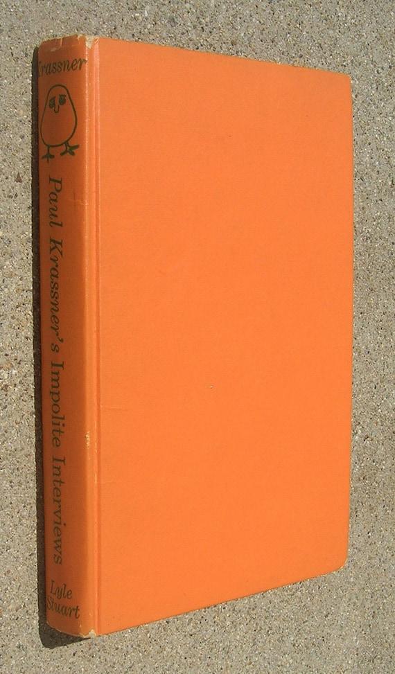 Paul Krassner's Impolite Interviews - by Paul Krassner - 1961 Edition - Lenny Bruce, Alan Watts, Richard Kern, Hugh Hefner etc