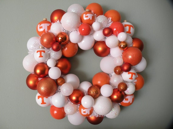 Reserved-- LADY VOLS University of TENNESSEE Volunteers Ornament Wreath