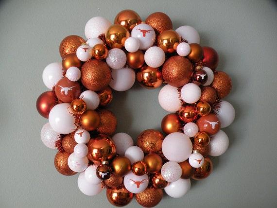 TEXAS LONGHORNS Ornament Wreath
