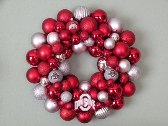 OHIO STATE BUCKEYES Ornament Wreath