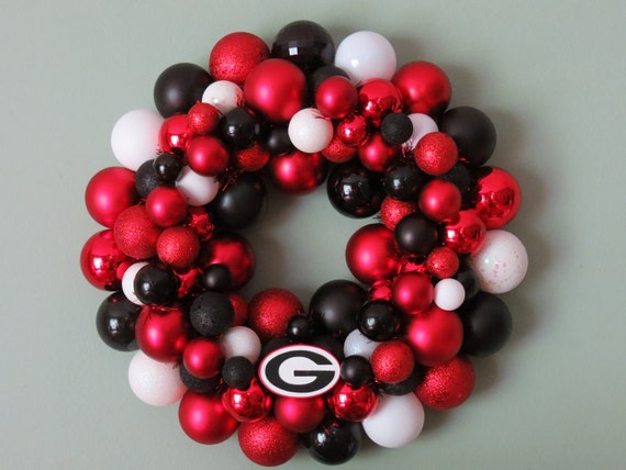 GEORGIA BULLDOGS Ornament Wreath
