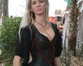 Isabella Tunic, Leather Corset Dress, Steam punk