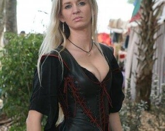 Isabella Tunic, Leather Corset Dress, Steam punk