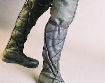 Thigh High Lace Boots, Steam Punk, Leather, Renaissance, Son of Sandlar