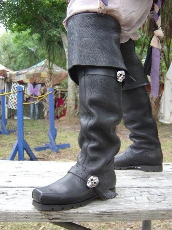 Captain Teach Pirate Boots Steam Punk