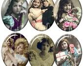 Digital Collage of Vintage Kids & Dolls - 36 30 x 40mm JPG images