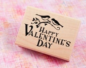 Happy Valentines Day - Wood Mounted Rubber Stamp from Inkadinkado