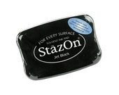 Stazon Permanent Ink Pad - Jet Black