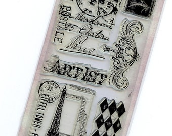 Tim Holtz Visual Artistry Clear Stamps - French Market