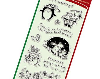 Clear Stamps from Inkadinkado - Christmas Characters