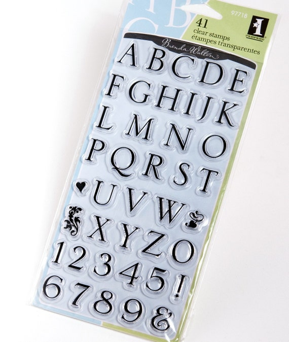 Somerset Alphabet - Clear Stamps from Inkadinkado