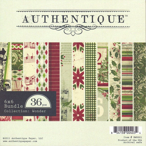 6x6 Christmas Paper Pad from Authentique - Wonder