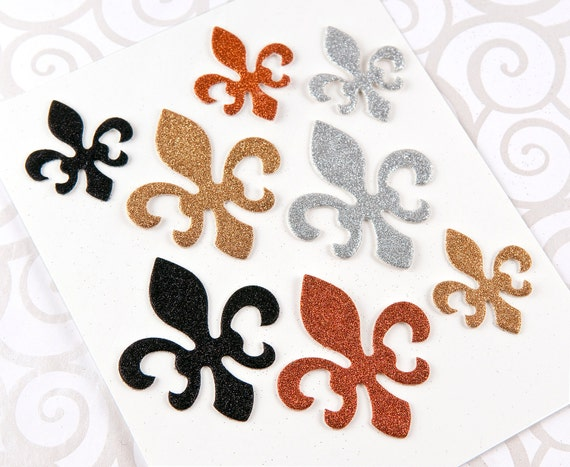 Fleur de lis glitter embellishments package of by for Fleur glitter
