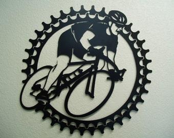 Bicycle Rider - Metal Wall Art