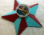Bahama Blue and Red True Love Bottlecap Magnet