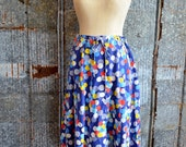 1970's Bunches of Balloons A-Line Skirt