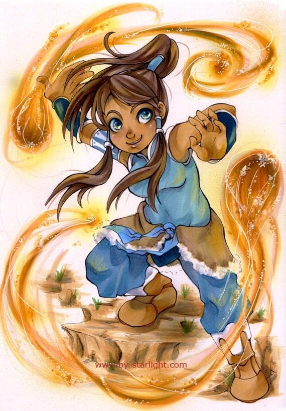 Chibi Korra Original Marker Illustration