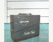 SALE Angled Vintage Craftsman Metal Tool Box