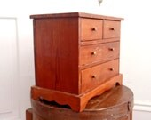 Danish Modern Box Chest of Drawers Vintage Wooden cabinet