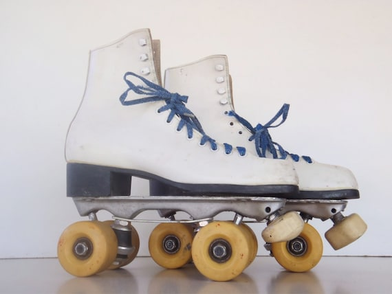 Vintage Leather Roller Derby Roller Skates 8