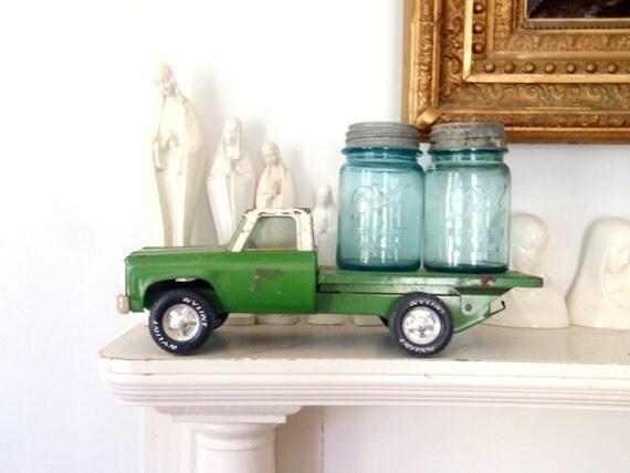 Toy Car Vintage Metal Toy Green Truck