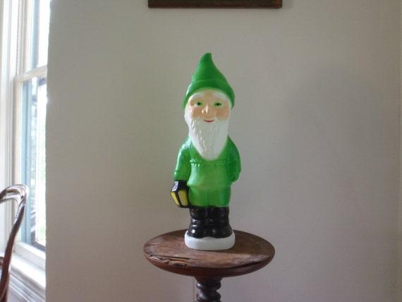 Life Sized Garden Gnome Lamp Vintage Elf