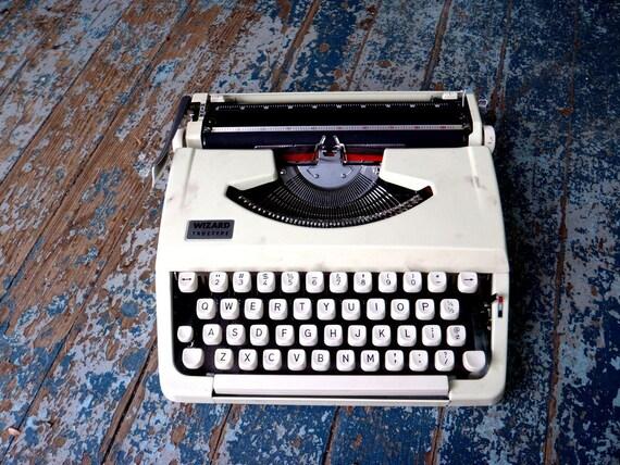 Petite Metal Typewriter Portable Vintage with Case FINE WORKING ORDER