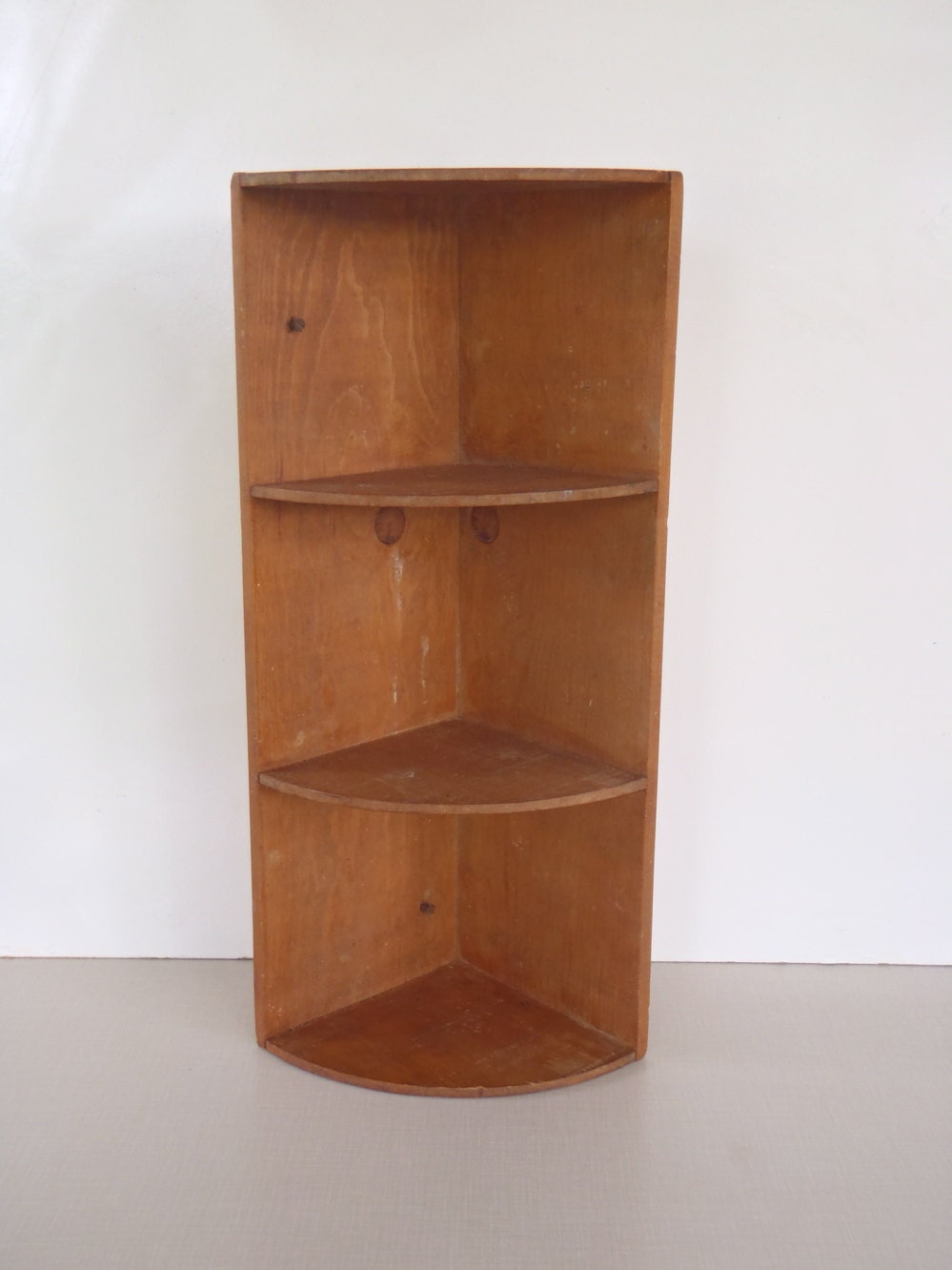 Handmade 1960s wooden corner kitchen shelf for Kitchen cabinet shelves