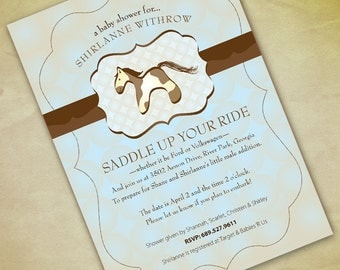 Horse Baby Shower Invitation Print Your Own