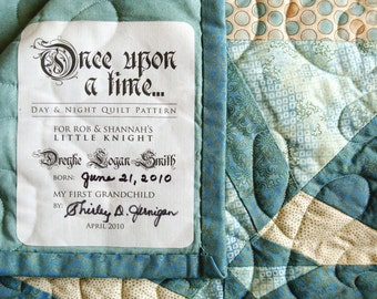 Custom Designed Quilt Label • One-of-a-kind Quilt Patch