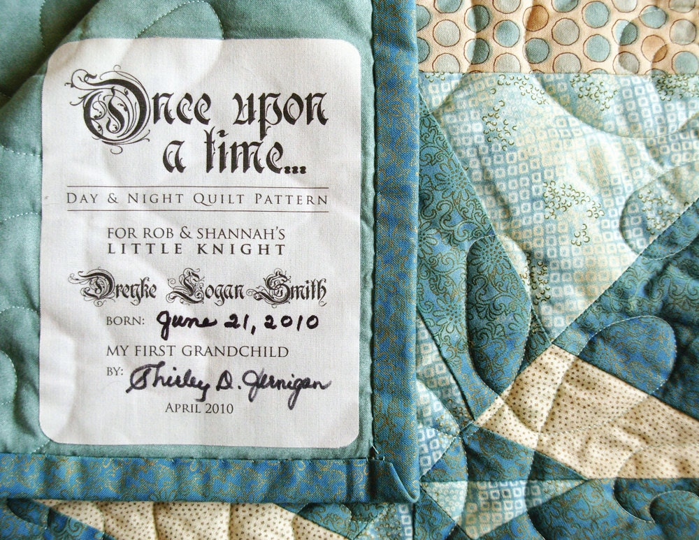 Custom Designed Quilt Label One Of A Kind Quilt Patch